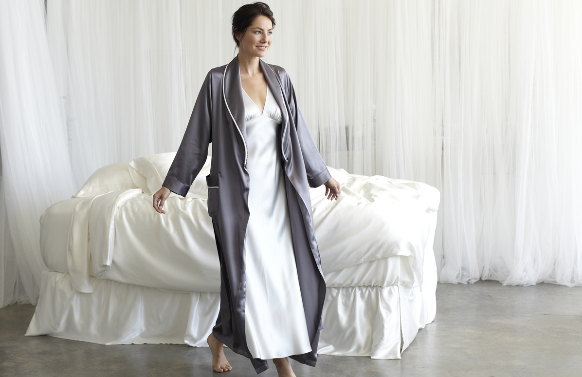 77cc4670a2 Women s Silk Bathrobes   Robes