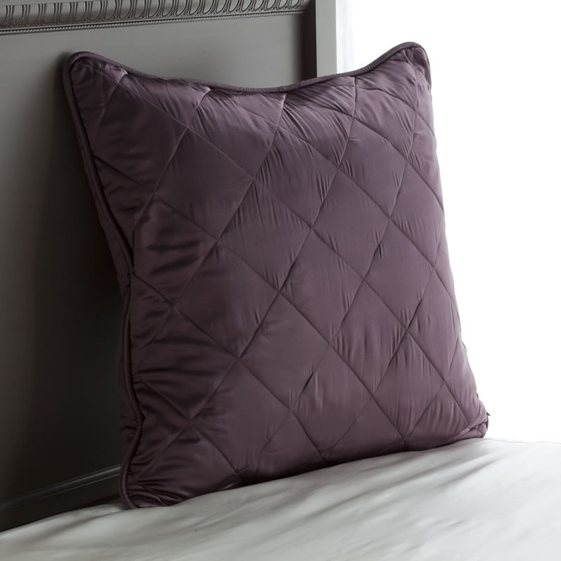 Silk Pillow Shams Quilted Pillow Shams Silk Euro Sham
